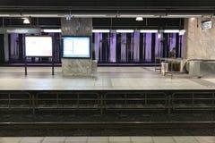 Metro de Bruxelas Fotografia de Stock