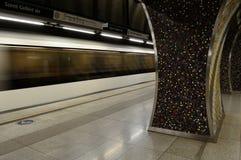 Metro de Budapest de la estación de metro Imágenes de archivo libres de regalías