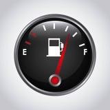 Metro de combustible stock de ilustración