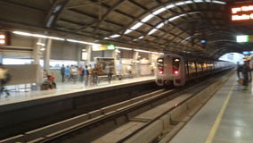 Metro de Delhi fotografía de archivo