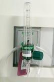 Metro de flujo del oxígeno suply, tubo nombrado de Thorpe Imagen de archivo