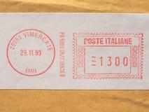 metro de franqueo de Italia fotografía de archivo