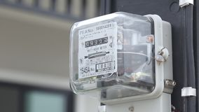 Metro de fuente de la energía eléctrica almacen de metraje de vídeo