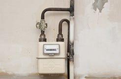 Metro de gas en una casa Imagen de archivo libre de regalías
