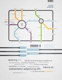 Metro de Infographics Fotografia de Stock Royalty Free