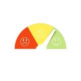 Metro de la satisfacción del cliente con emociones stock de ilustración