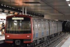 Metro de Lisboa en Portugal Foto de archivo