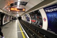 METRO DE LONDRES fotos de archivo