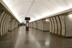 Metro de Moscú, subterráneo del paisaje del povsednevnij Imágenes de archivo libres de regalías