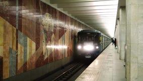 Metro de Moscú almacen de metraje de vídeo