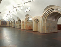 Metro de Moscovo, inerior da estação Dobryninskaya Imagens de Stock Royalty Free