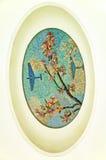 Metro de Moscovo, mosaico: Apple floresce, aviões Imagem de Stock Royalty Free