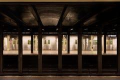 Metro de New York City na estação do th 57 fotografia de stock royalty free