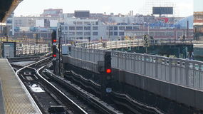 Metro de Nueva York - señal del subterráneo foto de archivo