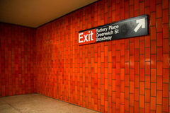 Metro de NYC Foto de Stock Royalty Free