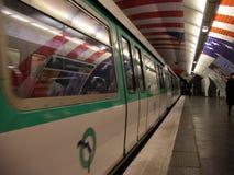 Metro de París Fotografía de archivo libre de regalías