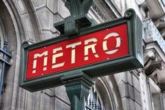 Metro de París Fotos de archivo libres de regalías