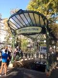 Metro de París Imagenes de archivo