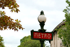 Metro de Paris Fotografia de Stock Royalty Free