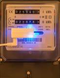 Metro de poder de la electricidad Imagen de archivo libre de regalías