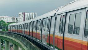 Metro de Singapur almacen de metraje de vídeo