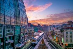 Metro de Taipei no por do sol Imagem de Stock