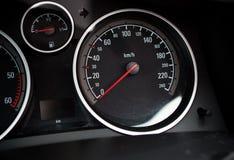Metro de velocidad del coche fotografía de archivo