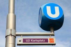 Metro de Viena fotos de stock royalty free