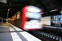 Metro departure. At the metro station in germany royalty free stock photography
