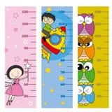 Metro di altezza dei bambini illustrazione di stock