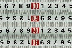 Metro di misurazione - fondo del modello Fotografia Stock