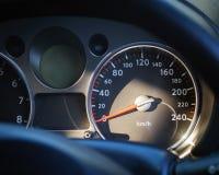 Metro di velocità dell'automobile Fotografia Stock Libera da Diritti