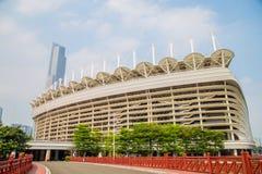Metro 2010, die Öffnung Guangzhous Pearl River des Asienspiele-Sport-Stadions Lizenzfreies Stockfoto