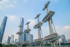 Metro 2010, die Öffnung Guangzhous Pearl River des Asienspiele-Sport-Stadions Stockfoto