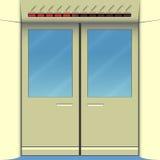 Metro drzwi ilustracja wektor