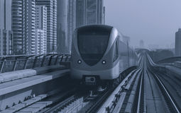 Metro in Dubai. Metro in Downtown district of Dubai Stock Images
