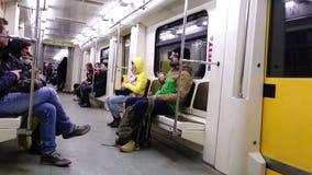 Metro em Moscovo video estoque