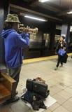 Metro em New York City, EUA fotografia de stock