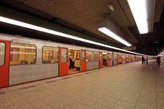 Metro em Países Baixos de Amsterdão fotografia de stock