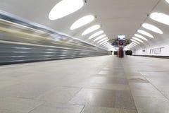 Metro en dvizheniia Fotografía de archivo libre de regalías