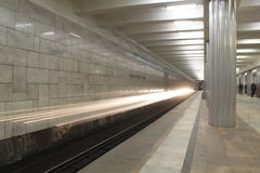 Metro en dvizheniia Imagenes de archivo