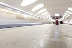 Metro en dvizheniia Fotos de archivo libres de regalías