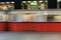 Metro en el subterráneo fotos de archivo