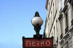 Metro en la avenida Jean Jaures en París Fotografía de archivo libre de regalías