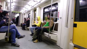 Metro en Moscú almacen de video