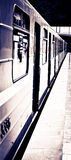 Metro en trein royalty-vrije stock foto's