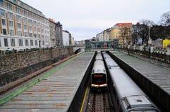 Metro en Viena Imagenes de archivo