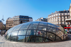 Metro entrance at Gare St. Lazare in Paris, France Stock Image