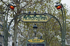 Metro entrance at Paris, France Royalty Free Stock Photography