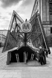 Metro entrance in Warsaw city in Poland Royalty Free Stock Photos
